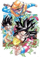 Dragonball GT- Grupo Z Colour by TriiGuN