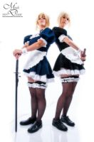 Saber maids 10 - Now with swords! by simakai