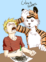 Calvin and Hobbes by pablog143