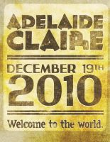 Adelaide, welcome to the world by simonh4