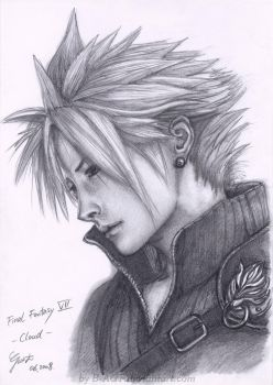 Cloud from Final Fantasy VII by B-AGT