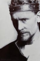 HENRY V Tom Hiddleston Ballpoint Drawing WIP by Bubblegum-Jellybean