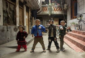 Karate children by clalepa