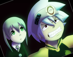 Soul and Maka by northstar2x