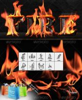 Fire Brushes by GrDezign