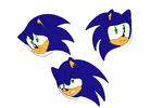 Sonic Faces by Wolf-Chalk