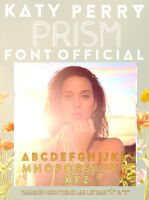 Katy Perry Prism Font Oficial (Alpha By) by JoseSelenator