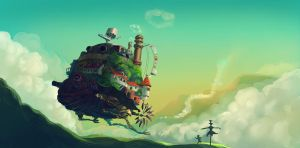 Howl's Moving Castle by Sendolarts