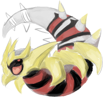 Giratina: Another WIP by AlgorPhoenix