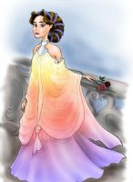 Padme 2 Rainbow Gown by hriviel
