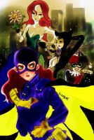 Bat girl VS lovely...? bad girls by La-h-i-n-a-y-u-m-e