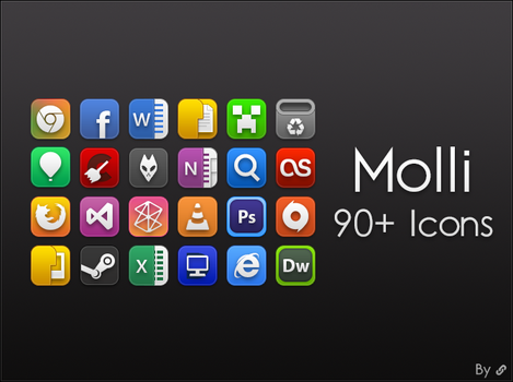 Molli icons set for docks by link6155