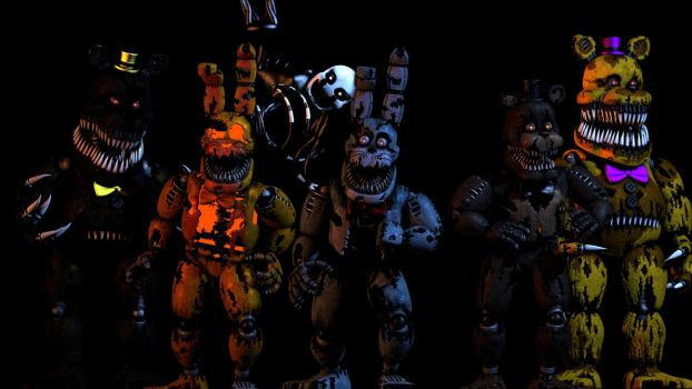 [FNaF] Nightmare Animatronics [POSTER] by MaTionsSFM2