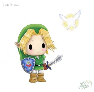 Chibi Link and Navi by capsicum