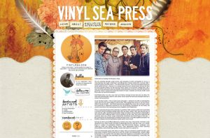 Website: Vinyl Sea Press by stuckwithpins