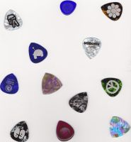 Collection of guitar picks by Mysteriouspizza