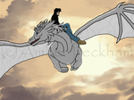 Shion dragon and Memphis by The-Bone-Snatcher