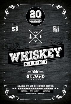 Whiskey Night Flyer by iorkdesign