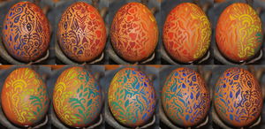 Rainbow Egg by The-Mysterious-J