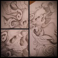 Skull and filigrees by Mak-Made