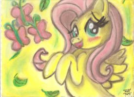 Hugging Funtime with Fluttershy by OstiChristian