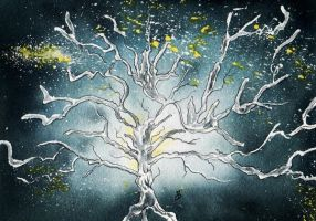The White Tree of Gondor by aragonia