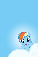 Rainbow Dash Cloud Peek iPhone/iPod Wallpaper by AlphaMuppet