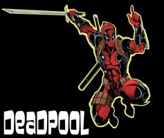 Deadpool Sticker by TimelessUnknown