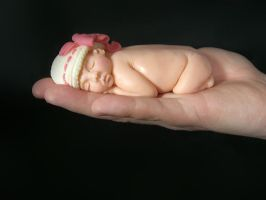 Chocolate Sculpture baby I by TiffsWickedCakes
