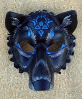 Custom Black Wolf Mask by merimask
