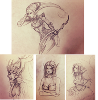 More LoL sketches by Flea-biscuit