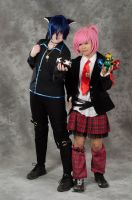 Ikuto and Amu cosplay ~ by Itamichiro