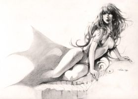 Vampirella - drawing commission by Lilaccu