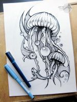 tattoo sketch dotwork by AsikaArt