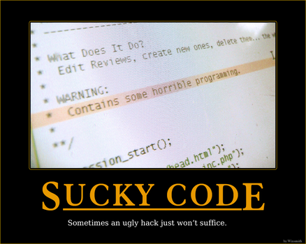 Sucky Code by winsmith