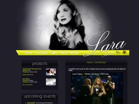 Lara Fabian FanSite Design by imsofuckincool