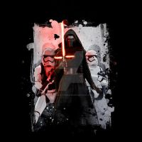 Kylo Ren Splatter by Design-By-Humans