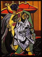 Picasso's Weeping Woman by Mclawliet