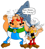 Asterix and Obelix + Dogmatix by JamesmanTheRegenold