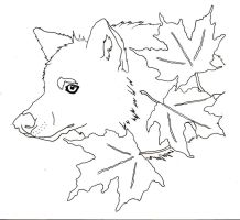 Wolf Maple Leaves Tattoo by naruto32