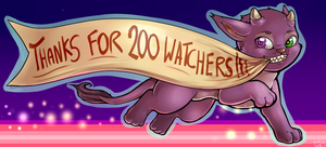 200 Watchers - Thank You!! by oddsocket