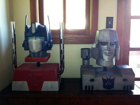 Optimus Prime and Megatron by AfterlightRob