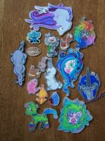 look at all the shrinky dink! by lets-cry-ACID-tears