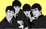 The Beatles Black and White Vector by yoblowit19