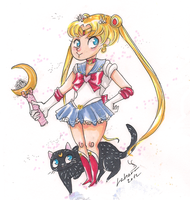 New Year Sailor Moon by Lahara