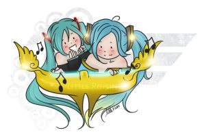 Sona and Miku by Little-Roisin