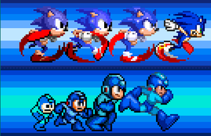 The Blue Bomber  The Blue Blur by T0misaurus
