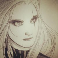 Pencil sketchy by oasiswinds