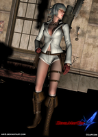 devil may cry 4-lady render II by AR-0