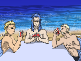 For the KH Summer Contest:Demyx Saix Luxiord Cards by Dark-Momento-Mori